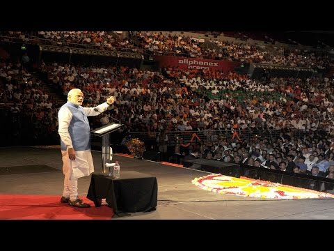 PM Narendra Modi address to Indian community in Sydney