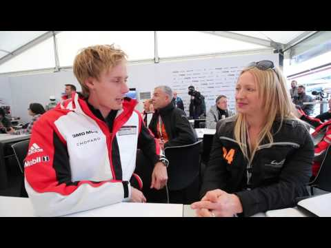 WEC Silverstone 2016 Driver Interview & Challenge - Brendon Hartley - Porsche