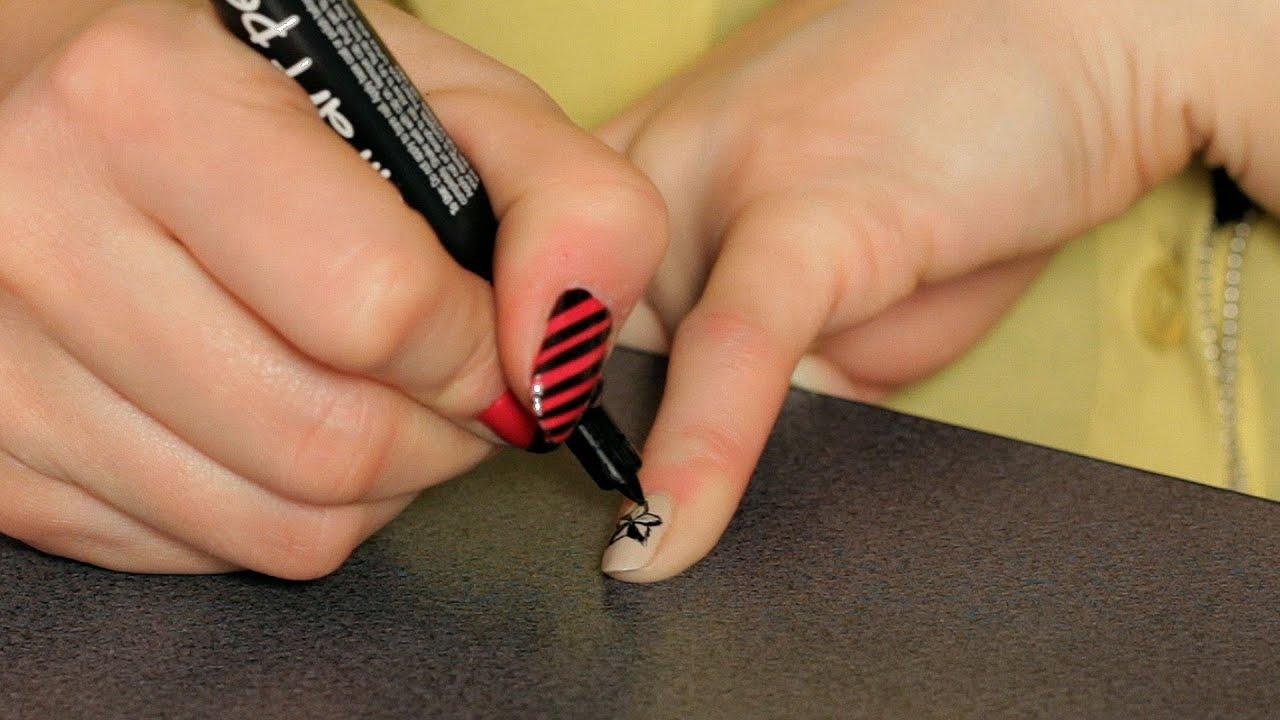 How To Do A Nautical Star Design Nail Art Designs Youtube