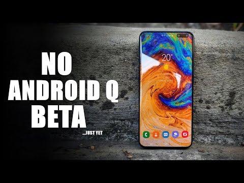 Samsung Galaxy S10 - No Android Q Beta?