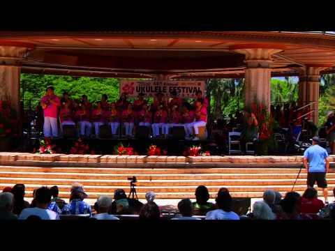 Ukulele Festival Hawaii 2014 -- Bambell Ukestra (Republic of Korea)