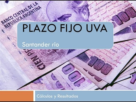 Plazo fijo UVA Santander Rio (Resultados)