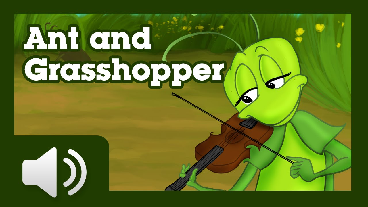 The Ant and the Grasshopper - Illustrated and narrated ...