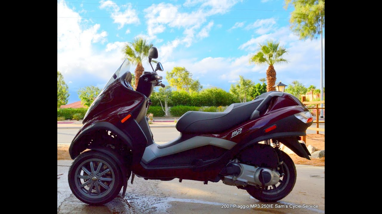 2007 piaggio vespa mp3 250 three wheel scooter for sale www