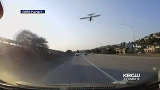 Couple Catches Emergency Landing Of Small Plane On I-580 With Dash Camera