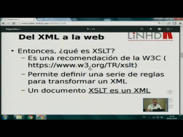 Taller  Transformaciones y visualizaciones  Del etiquetado XML a la web