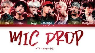 BTS - MIC Drop (방탄소년단 - MIC Drop) [Color Coded Lyrics/Han/Rom/Eng/가사]