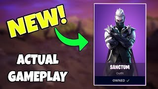 NEW SANCTUM SKIN AND MOONRISE PICKAXE GAMEPLAY (Fortnite Battle Royale)