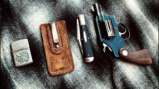 "Beard And Owl "" Clip Slip "" Slip Joint Knife Sheath Quick Review"