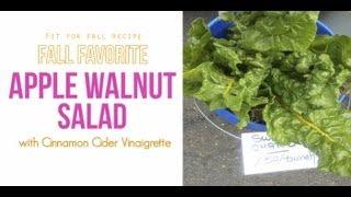 Apple Walnut Salad With Cinnamon Cider Vinaigrette