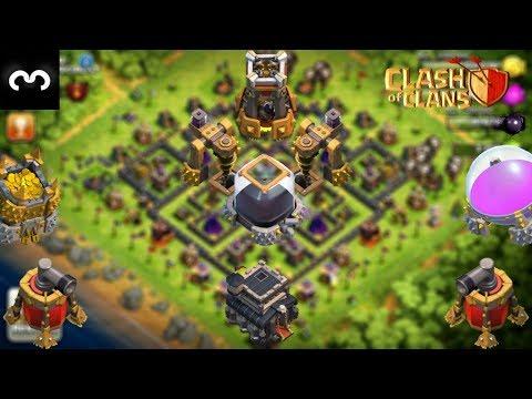 LE MEILLEUR HDV 9 FARM !!! Clash Of Clans