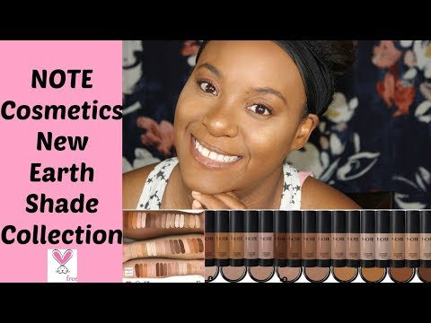 NOTE Cosmetics Earth Shade Collection Foundation Review ~ShaneillH
