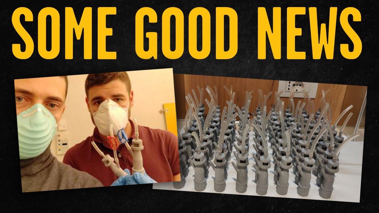 CORONAVIRUS GOOD NEWS: Entrepreneur in Italy uses TECHNOLOGY, 3D Printer for ICU VALVES, Saves Lives