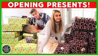 OPENING PRESENTS CHRISTMAS MORNING 2018! Part 1