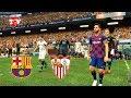 BARCELONA vs SEVILLA - MESSI Free Kick Goal & Full Match - PES 2019 Gameplay PC