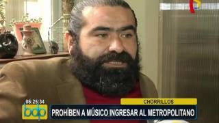 Metropolitano: músico es impedido de ingresar por llevar una maleta grande
