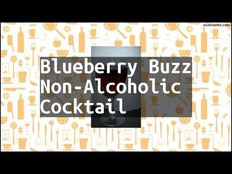 blueberry buzz non alcoholic  cocktail