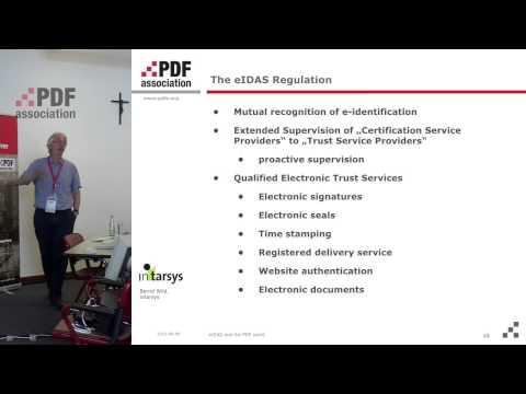 eIDAS and the PDF world