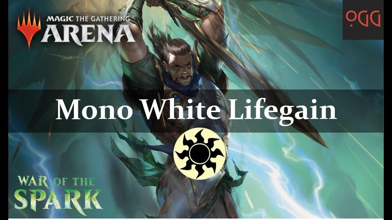 MTG: Arena Deck Tech - Mono White Lifegain [WAR Standard]