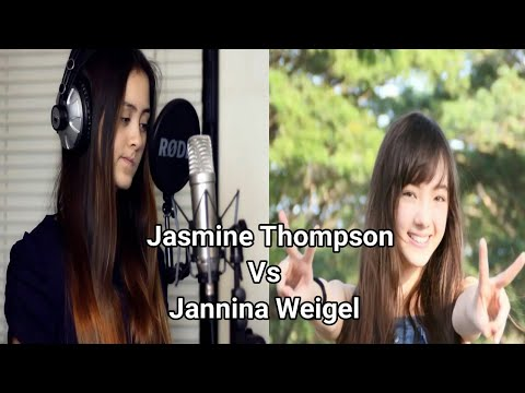Wrecking Ball - Miley Cyrus cover by Jasmine Thompson vs Jannina Weigel