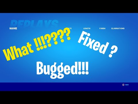 How To Fix The Replay Mode Bug In Fortnite !!!