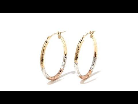 Michael Anthony Jewelry 10k Tricolor Hoop Earrings