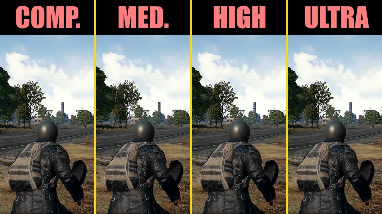 Pubg Ultra Hd Pc: PUBG GTX 1050 Ti Competitive, Medium, High, Ultra