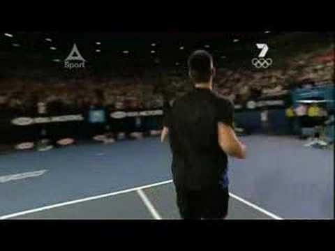 2008 Australian Open - Men's Final - Match Point