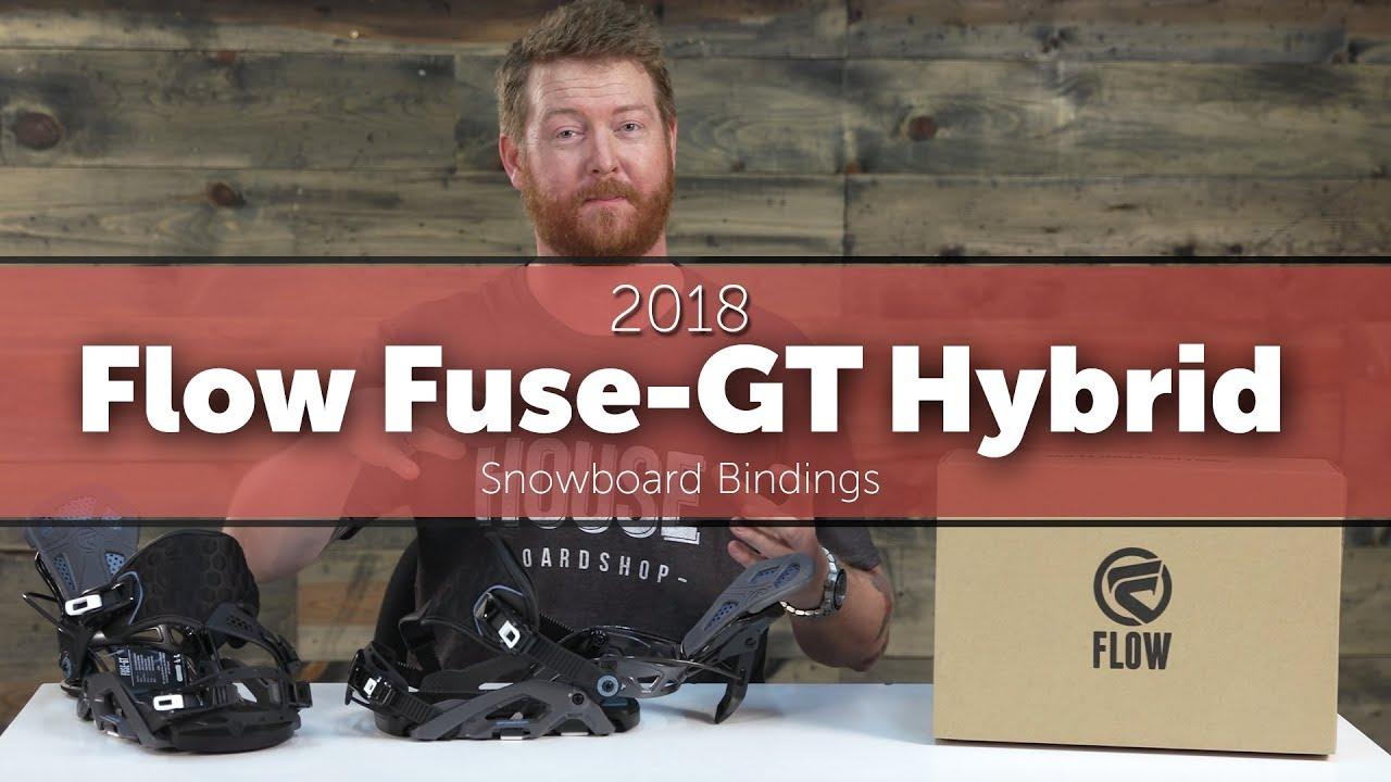 172e04304bb8 2018 Flow Fuse-GT Hybrid Snowboard Bindings - YouTube