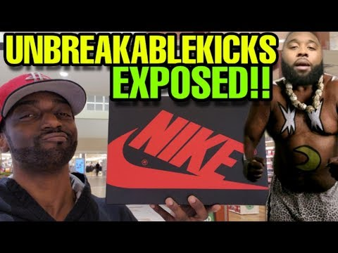 THIS SHOE EXPOSED UNBREAKABLEKICKS FOR SELLING FAKE SHOES!!!