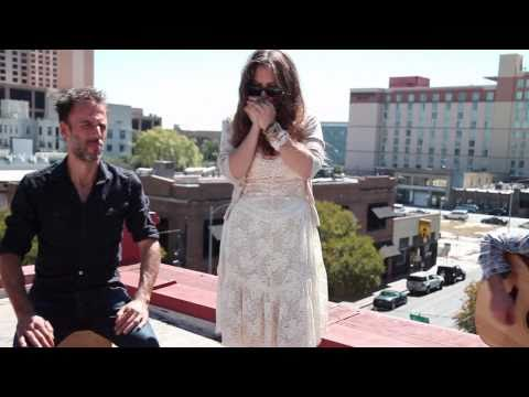 "Angus and Julia Stone ""Big Jet Plane"" Live from a rooftop in Austin TX"