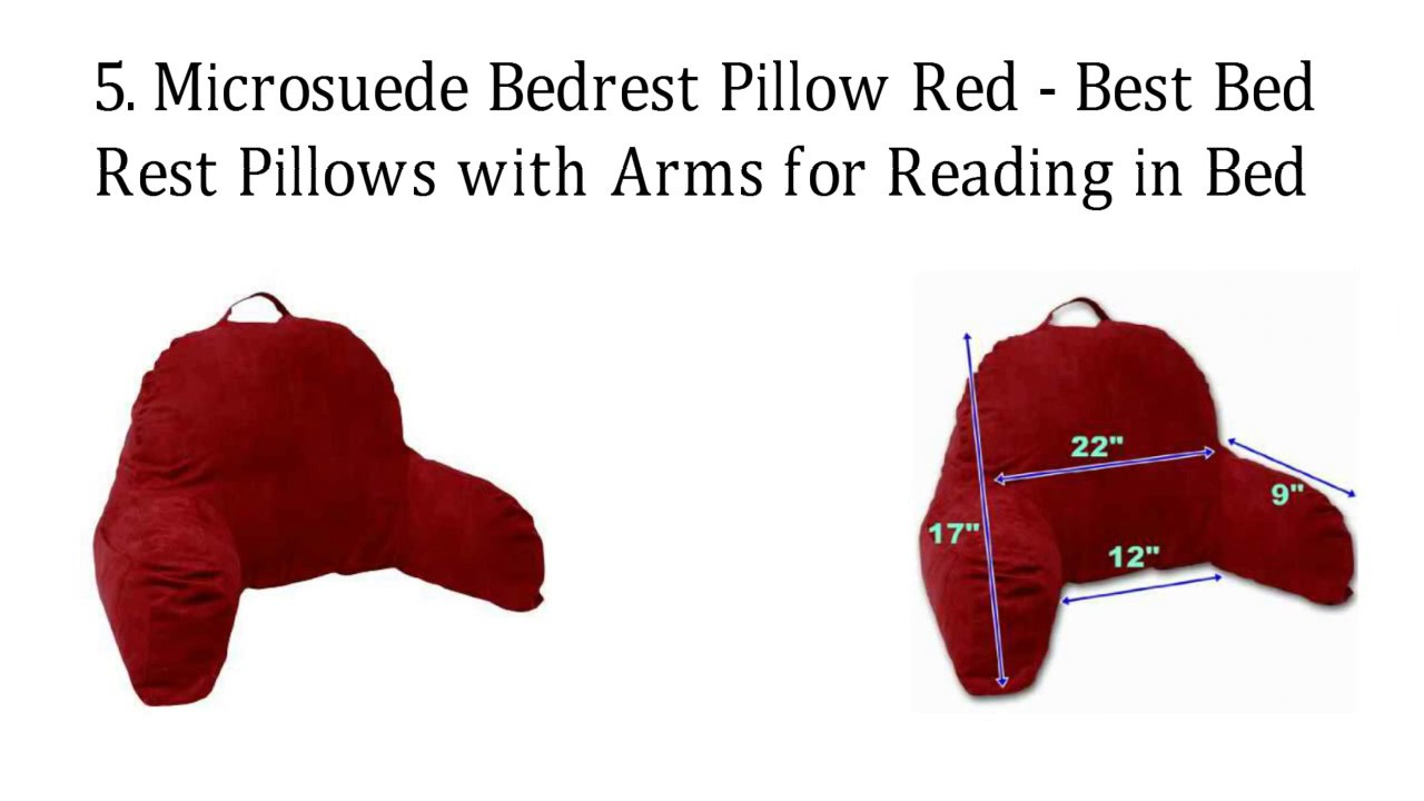 pillow for sitting up in bed - Bed Rest Pillow With Arms