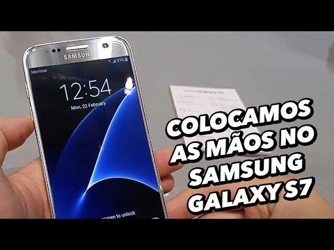 Colocamos As Mãos No Smartphone Samsung Galaxy S7 [Hands On] - MWC 2016