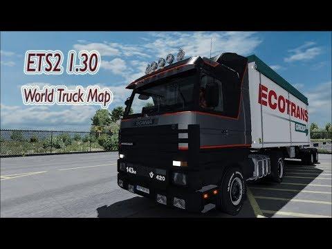 ETS2 1.30 | World Truck Map v1.30 | Download & Install