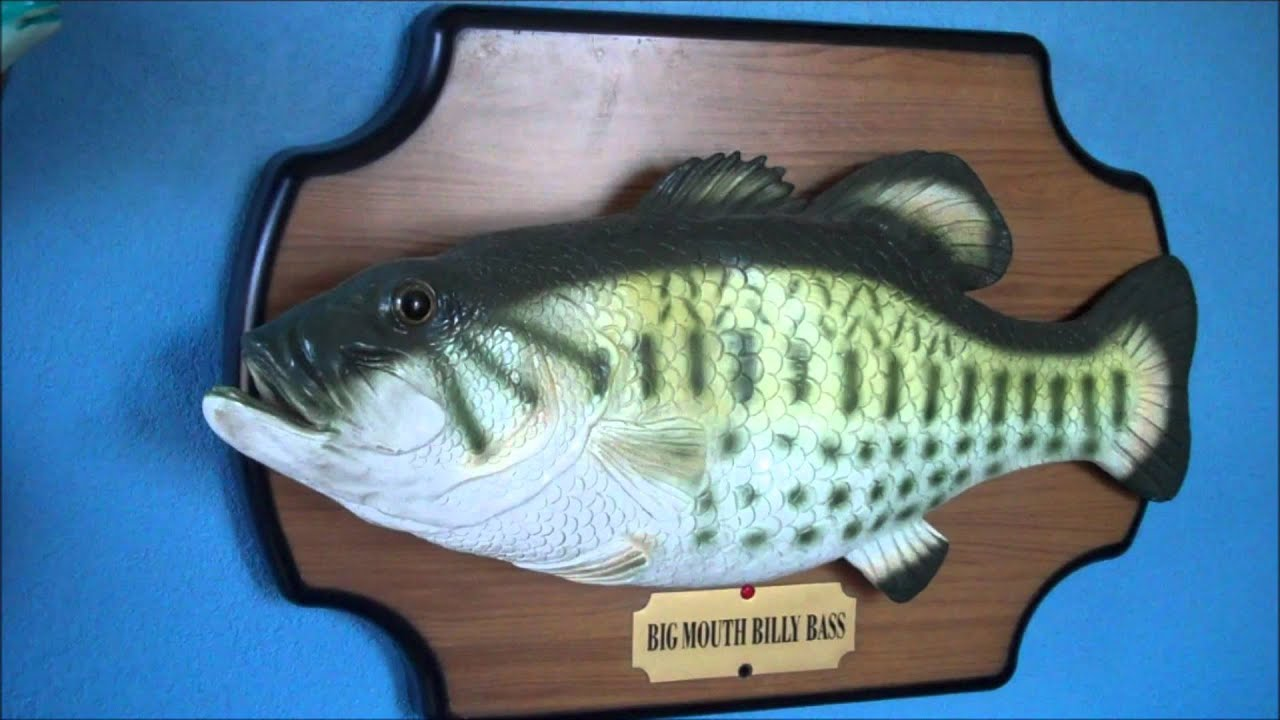 The original big mouth billy bass sound recordings youtube for Big mouth billy bass singing fish