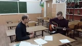 Дуэт блокфлейты и гитары. Катюша
