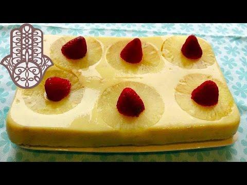 gâteau-sans-cuisson-à-l'ananas