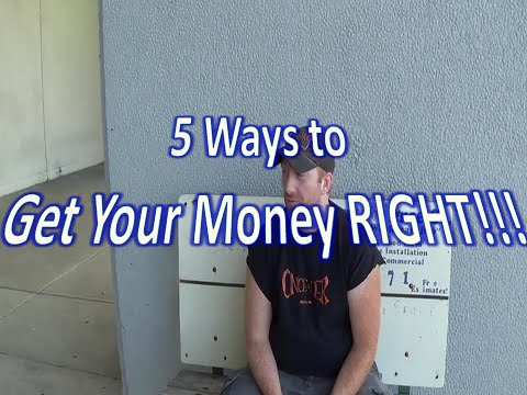 5 Ways To Get Your Money RIGHT! | How to Create Wealth for Yourself!