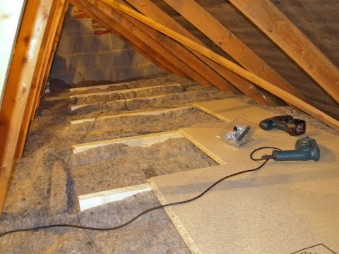 DIY Loft/Attic Insulation with over-boarding for Storage [Superhome59 Video part 10]