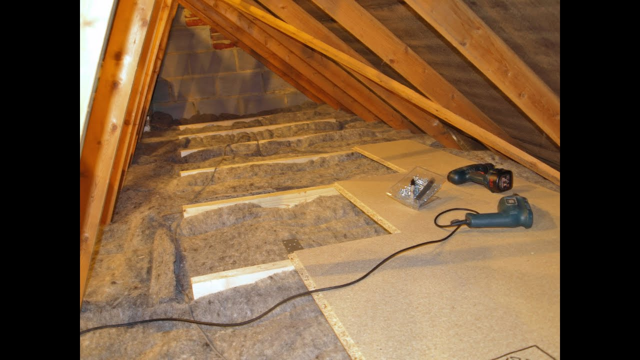 Diy Loft Attic Insulation With Over Boarding For Storage