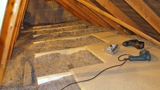 DIY Loft/Attic Insulation with over-boarding for Storage Superhome59 Video part 10