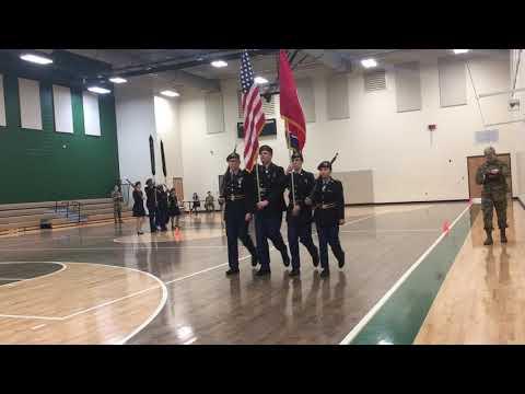 Eagleville JROTC Drill Team 3 at North Bullitt High School 01/26/2019