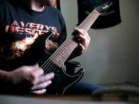 Averys Descent - False Believers - 7 string drop B guitar cover