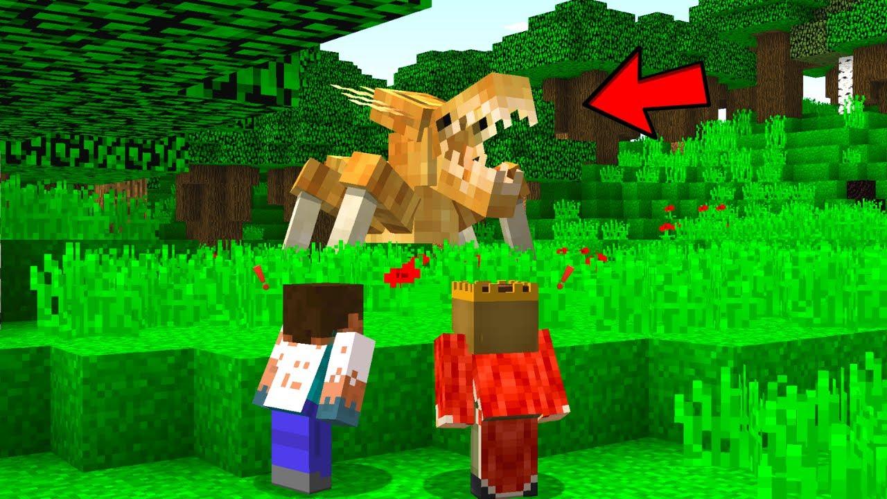 FAKİR GİZLİ ORMAN CANAVARINI BULDU! - 😱 - Minecraft