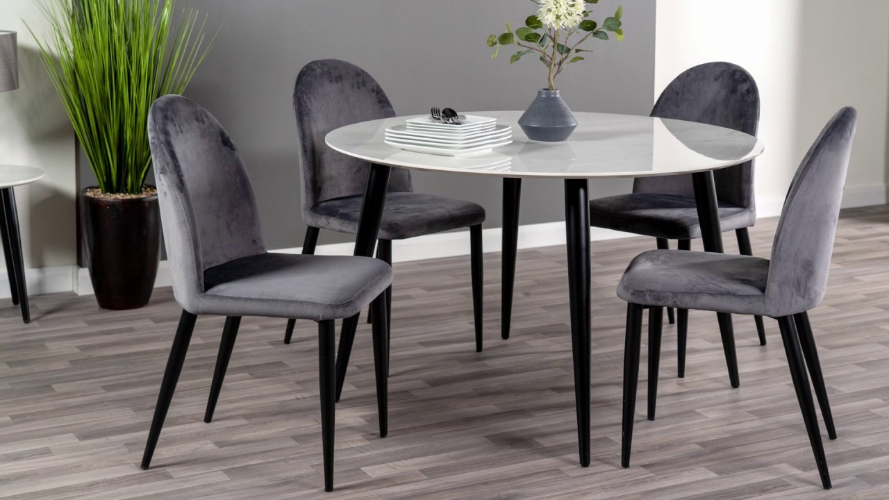 Milano Dining Table 4 Chairs Scs