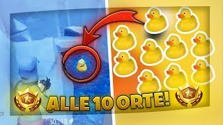 ALL 10 Fortnite GUMMIENTEN! [Solution] | Search Rubber Ducks | Fortnite Battle Pass Week 3 Season 4