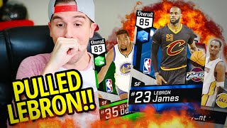 Nba 2k17 myteam pack opening - best card in the game!! i pulled lebron!! 99 kobe!! back to back!!