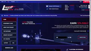 СКАМ Хайп монитор Hyip Club & Обзор проекта Laser Online от ROLEX или как заработать в интернете