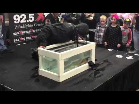 Bobbing for Trout with Melissa Bachman at the ASA Sportshow in Phily