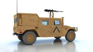 3D Model of Hummer M998 Review
